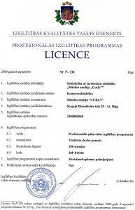 Vizāžistu apmācība licence