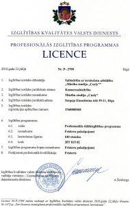 Frizieru apmācības licence